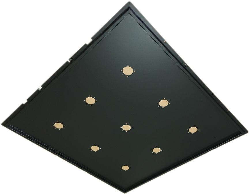 Supporto Plafoniera LED 60x60 Incasso - ECOLUX INCASSO NERO