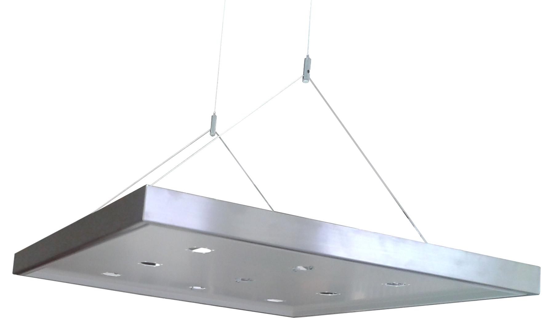 Supporto Plafoniera LED 60x60 Sospensione - ECOLUX SOSPENSIONE BIANCO
