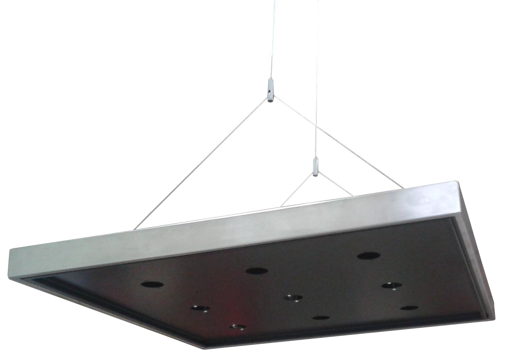 Supporto Plafoniera LED 60x60 Sospensione - ECOLUX SOSPENSIONE NERO